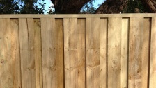 timber panel fencing