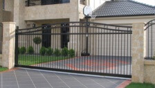 slide gates with security system