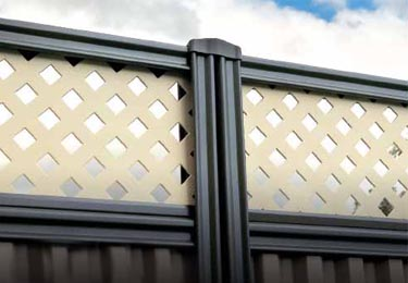 Lattice Screening Colorbond Fencing Perth