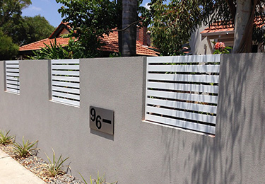 Powder Coated Aluminium Slat Fencing Perth