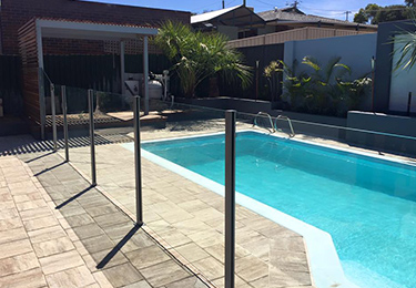 Semi-Frameless Pool Fencing Perth